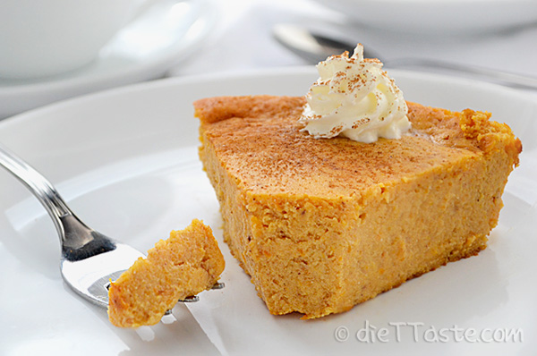 Crustless Pumpkin Pie - diabetic friendly