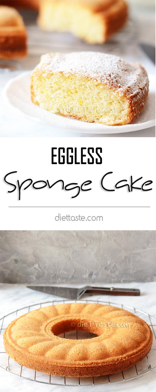 Eggless Sugar Free Sponge Cake