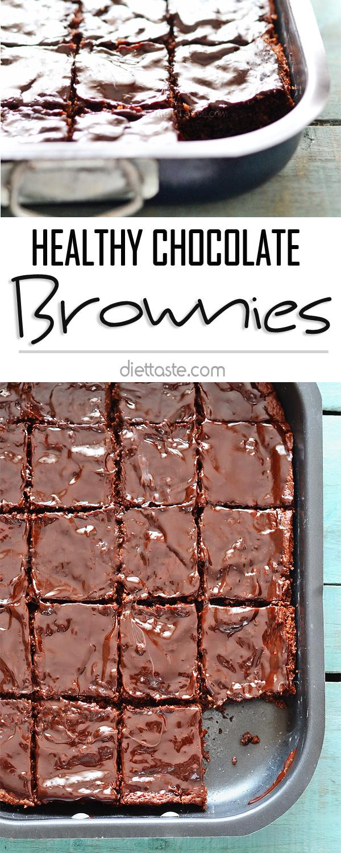 Healthy Chocolate Brownies | dieT Taste