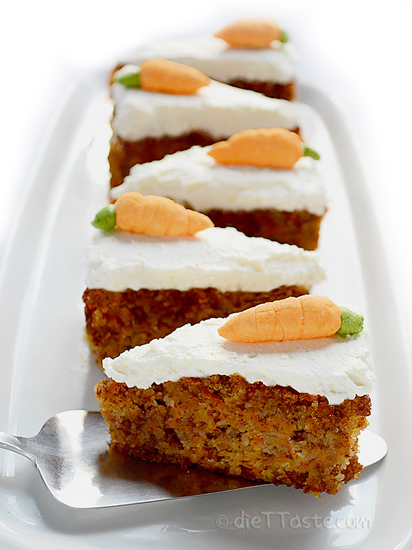 Moist Carrot Cake - diabetic friendly