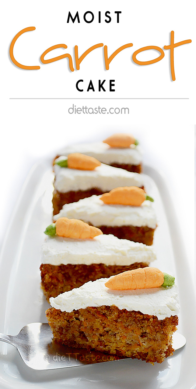Moist Carrot Cake - diabetic friendly
