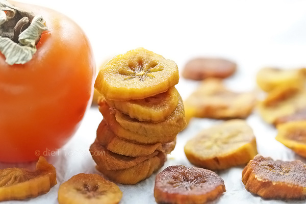 Dried Persimmon Slices - easy diy method for drying persimmon in your oven