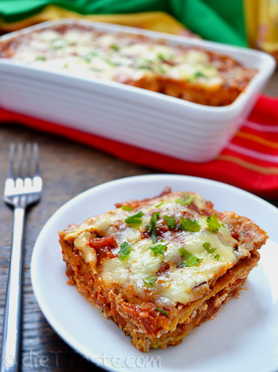 Creamy, skinny, low-carb, low-fat chicken enchiladas, using chickpea ...
