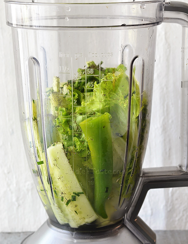 Drinkable Salad - Savory Green Smoothie