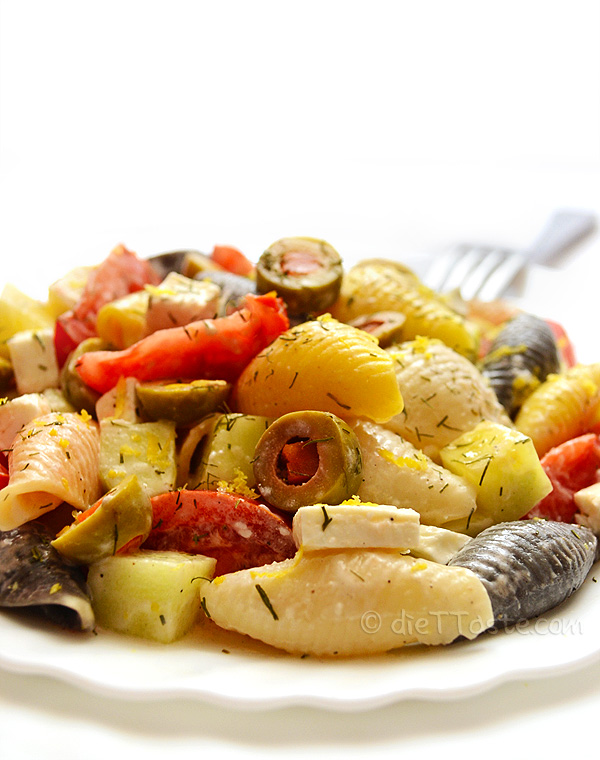 mediterranean summer pasta salad is a type of salad that i make the ...