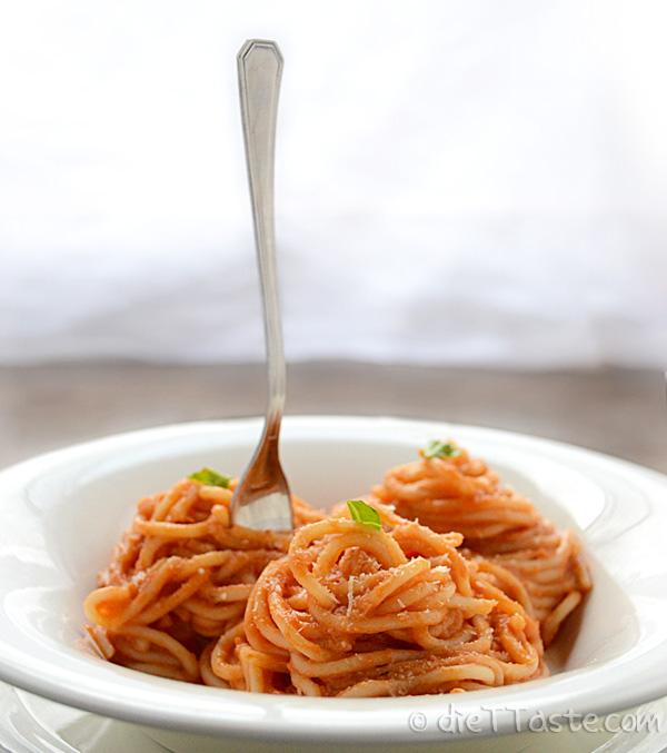 Pasta with Tomato Cream Sauce | dieT Taste