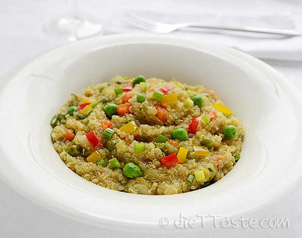 Baby Artichoke Heart Quinoa Risotto With Shrimp And Meyer Lemon Pesto ...