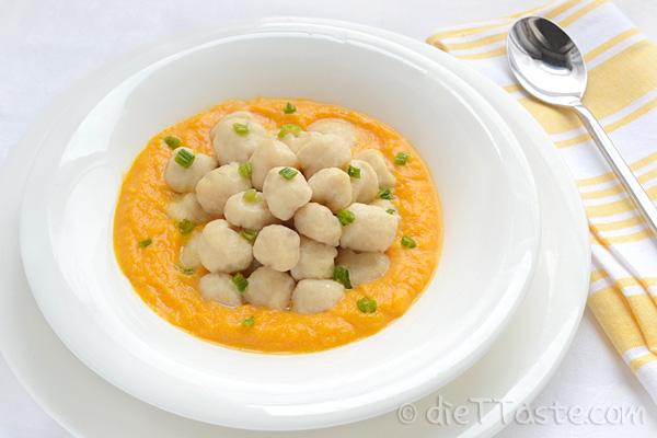 Ricotta Gnocchi with Pumpkin Velvet Sauce | dieT Taste