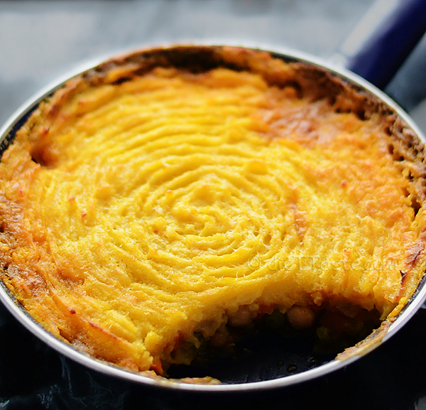 Vegetarian Shepherd's Pie - with sweet potatoes and chickpeas; can ...