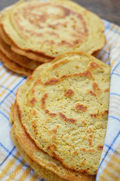 Chickpea Flour Tortillas - Low Carb, Diabetic Friendly Recipe