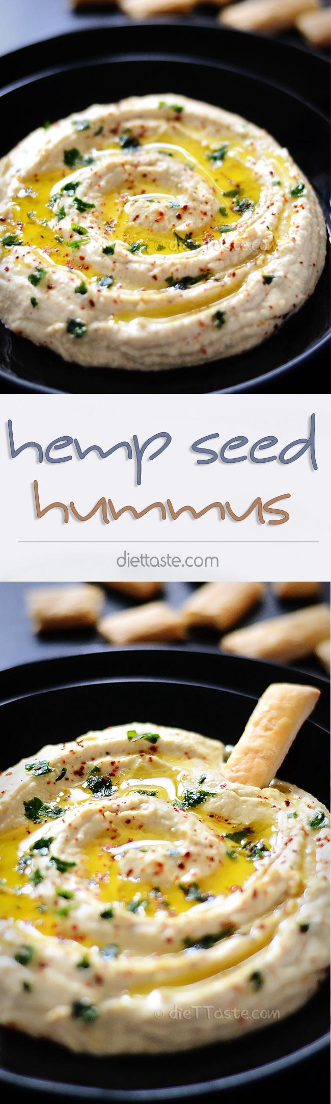 Hemp Seed Hummus - diettaste.com