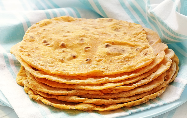 Sweet Potato Flatbread / Roti - the oldest and easiest bread to make; vegan, fat-free, full of fibers