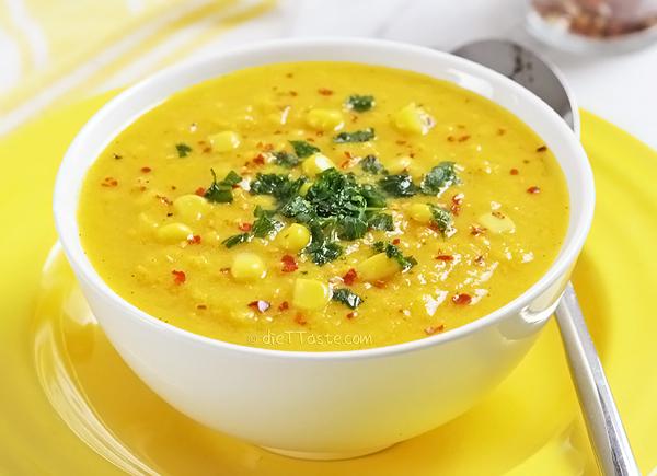 Corn and Sweet Potato Chowder - a new twist on a classic soup