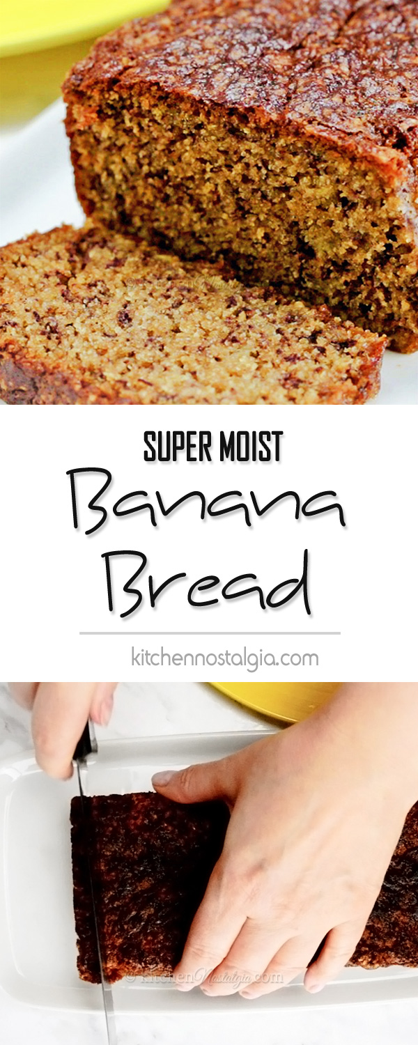 Super moist banana bread kitchen nostalgia super moist banana bread with yogurt see what is the trick to keeping it super forumfinder Image collections