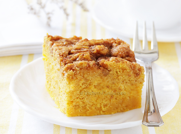 Sweet Potato Cinnamon Roll Cake - super moist breakfast cake; healthier then cinnamon rolls!