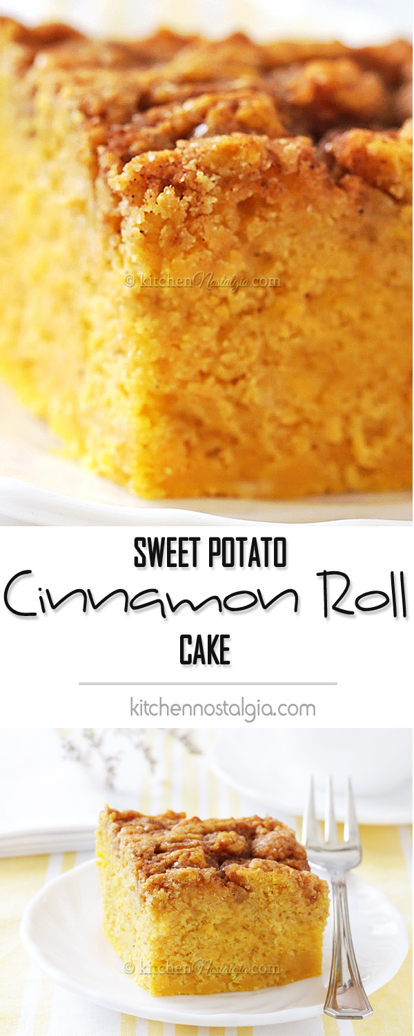 Sweet Potato Cinnamon Roll Cake Kitchen Nostalgia
