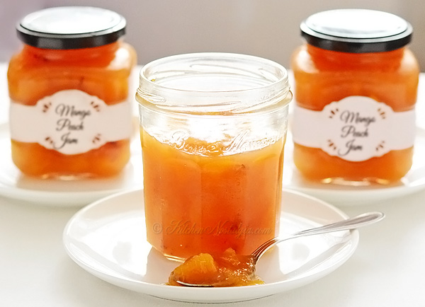 Mango Peach Jam - preserve peaches by combining them with mangoes and ...