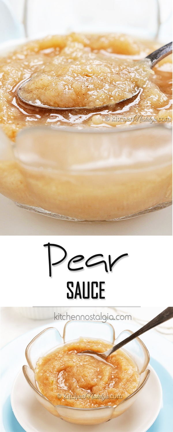 Pear Sauce - use ripe pears to make this simple sauce which can be used in the same way as applesauce.!