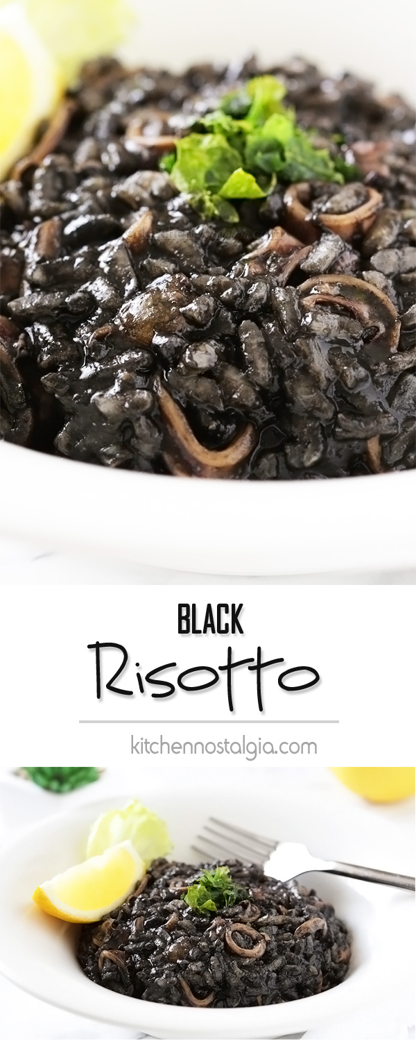 Black Risotto (Crni rizot) - Croatian seafood and rice dish; gets its peculiar color from squid ink