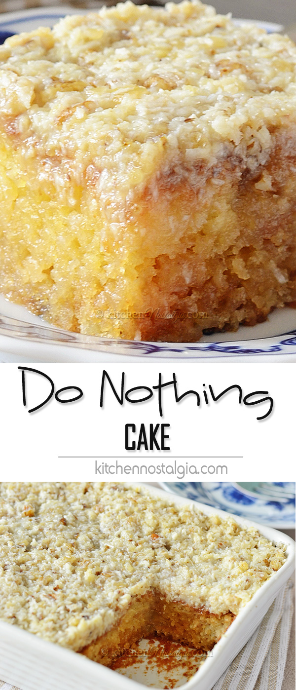Do Nothing Cake Kitchen Nostalgia