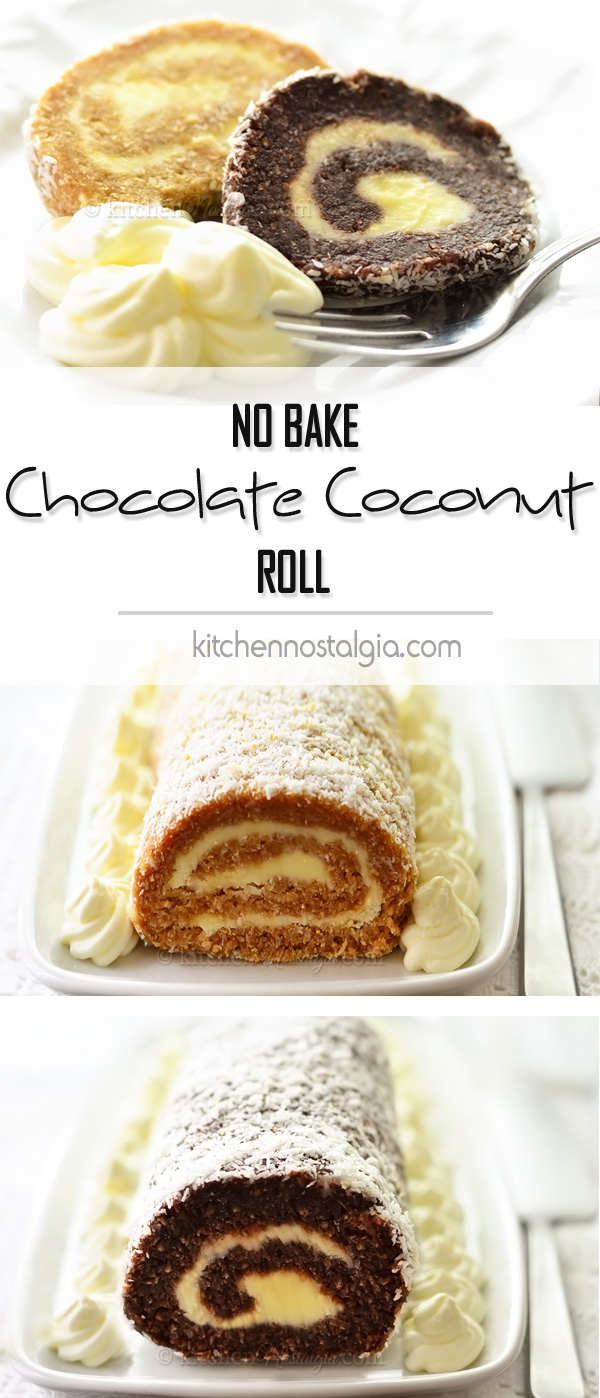 Chocolate Coconut Roll - no bake
