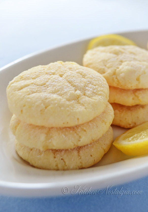 Lemon Crinkle Cookies - kitchennostalgia.com