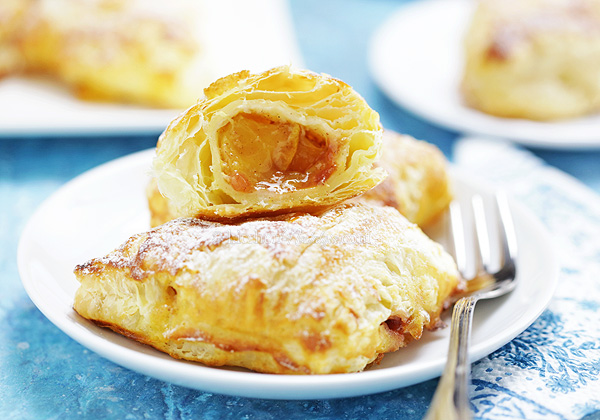 Easy Peach Turnovers - taste like croissants filled with peach pie filling!