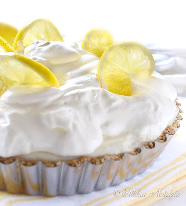 Lemon Icebox Pie - by kitchennostalgia.com