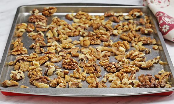 Toasted Walnuts - easy method to enhance the flavor of walnuts before using them in your recipes
