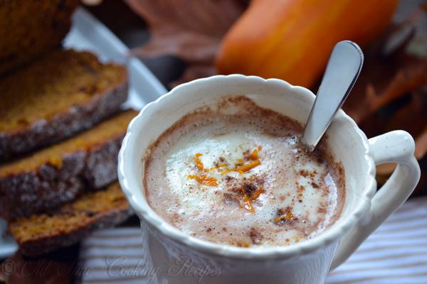 Pumpkin And Milk Chocolate Hot Chocolate Recipe — Dishmaps