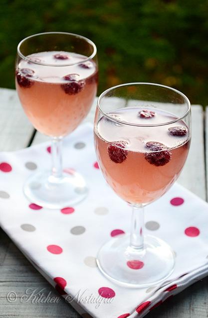 Raspberry White Wine Spritzer