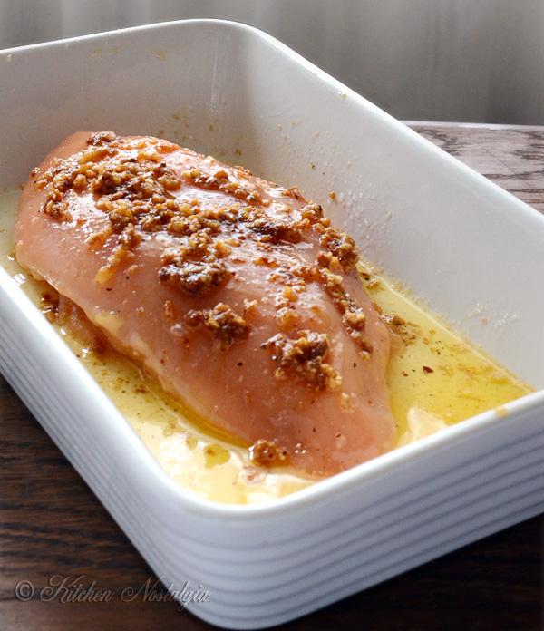 Garlic Butter Spaghetti and Chicken - kitchennostalgia.com