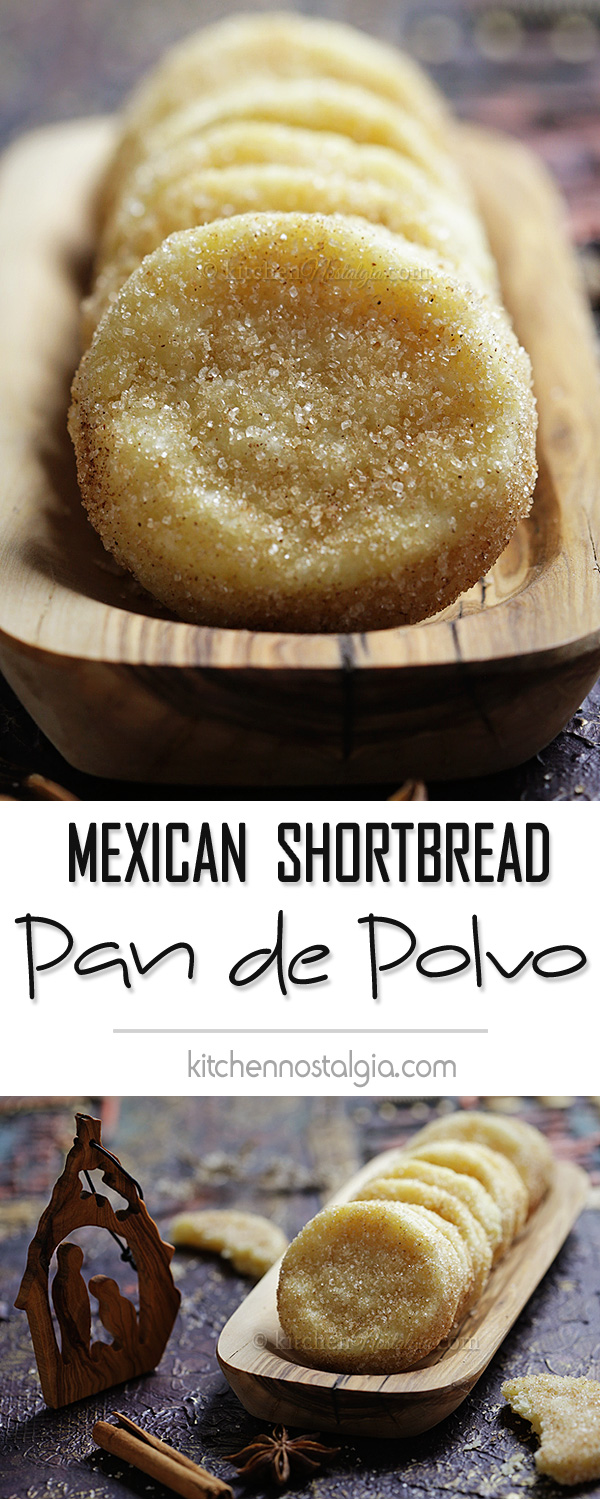 Pan de Polvo - buttery, crumbly, melt in your mouth Mexican shortbread biscuits