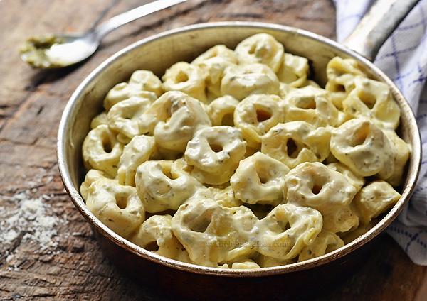 Cream Cheese Pesto Pasta