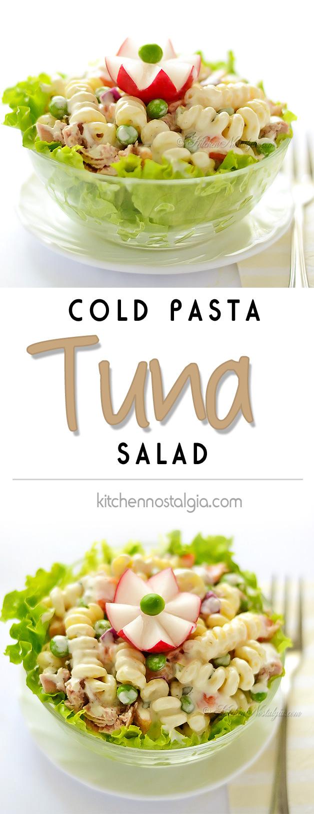 Cold tuna macaroni salad Pasta salad recipe cold