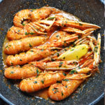 Scampi Buzara (Shrimp in Red Tomato Wine Sauce)