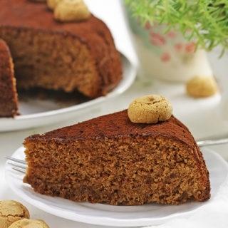 Easy Amaretti Chocolate Cake (Torta facile amaretti e cioccolato)
