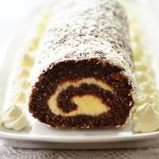 Chocolate Coconut Roll (No Bake)