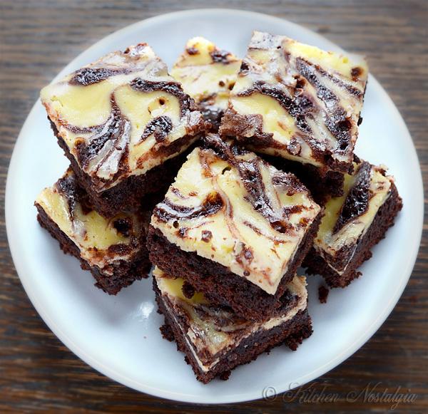 Cream Cheese Swirl Brownies   Kitchen Nostalgia