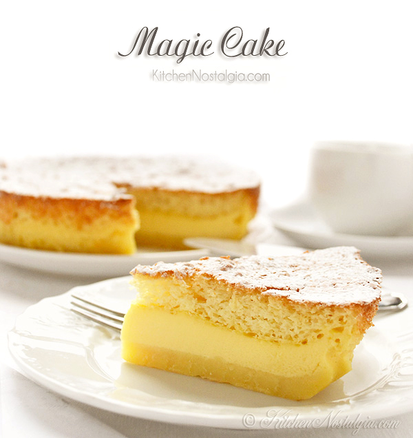 Magic Custard Cake Lemon