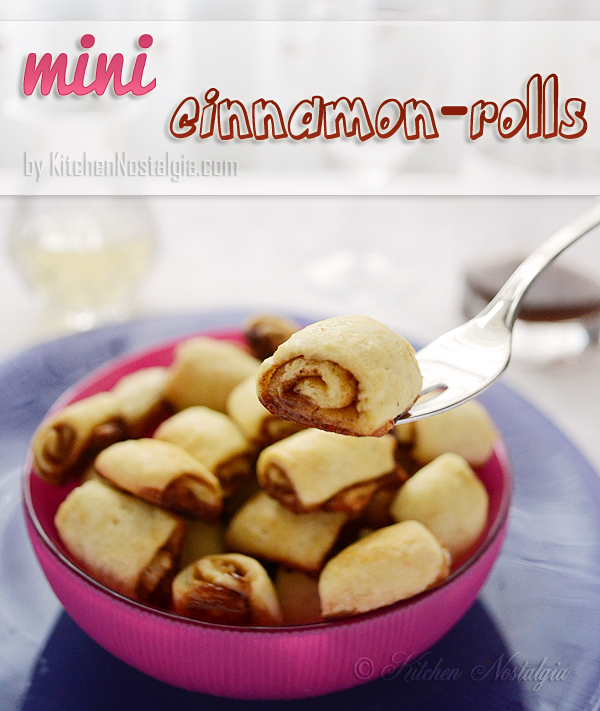 Mini Cinnamon Rolls - recipe from kitchennostalgia.com