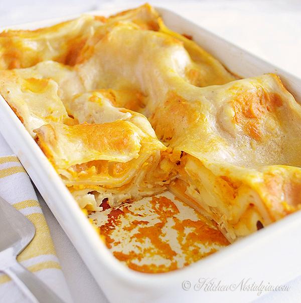 Butternut Squash Lasagna - kitchennostalgia.com