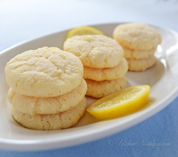 Lemon Crinkle Cookies - kitchennostalgia.com