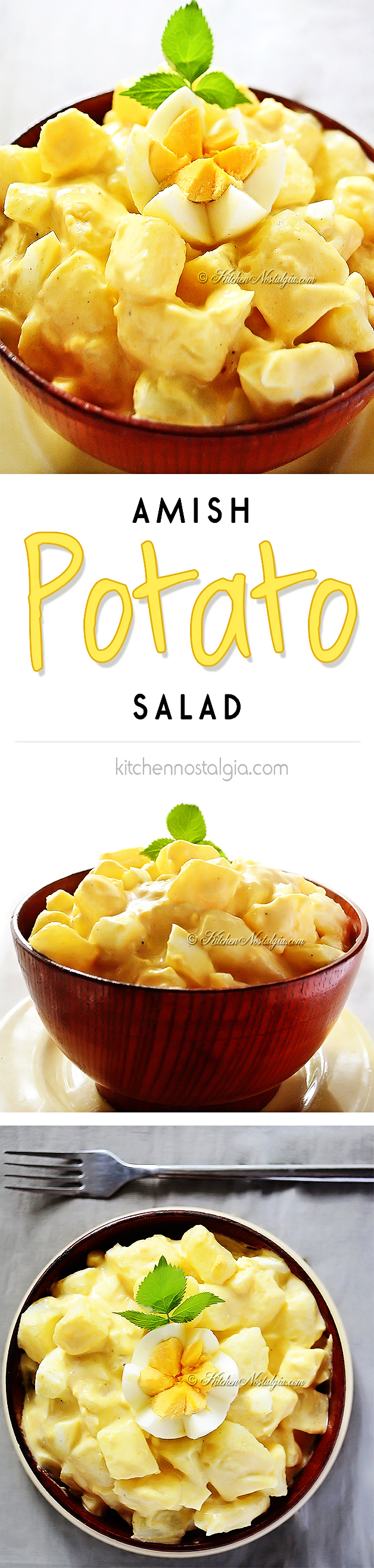 Amish Potato Salad - from kitchennostalgia.com