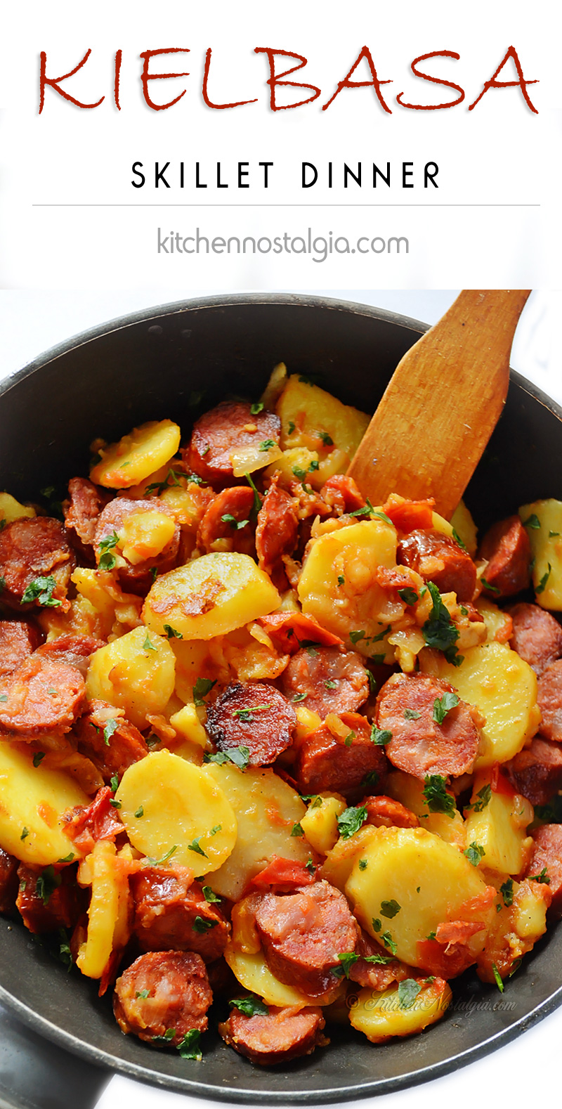 Kielbasa and Potatoes Skillet Dinner
