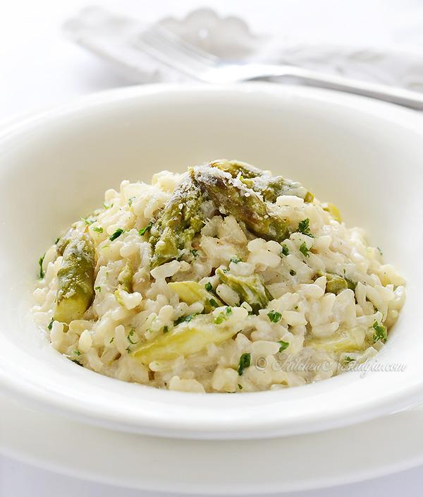 Asparagus Risotto - kitchennostalgia.com