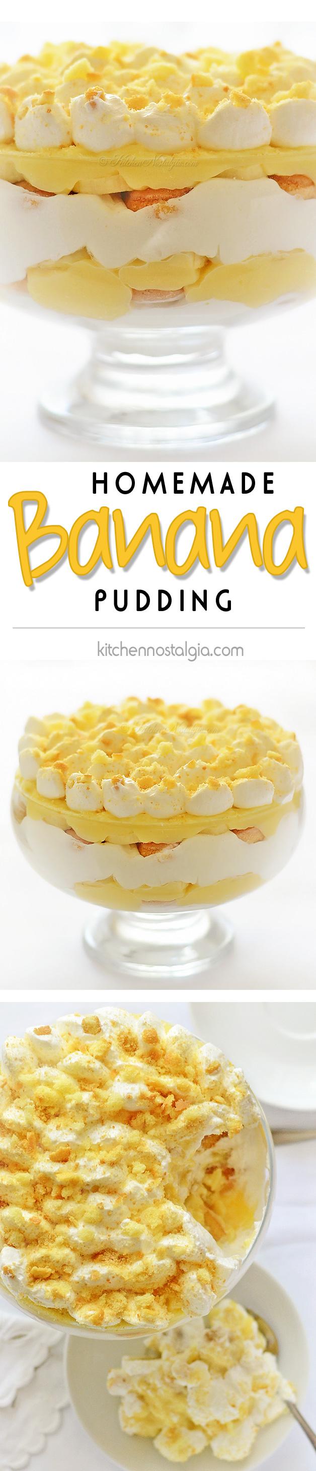 Homemade Banana Pudding - kitchennostalgia.com