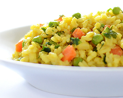Spicy Peas and Carrots Rice