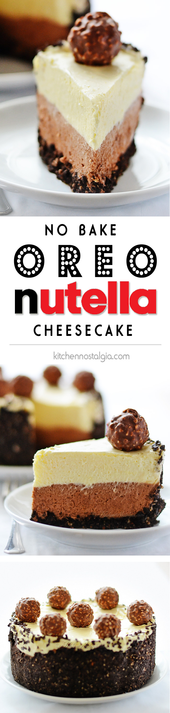 Nutella Oreo Cheesecake - kitchennostalgia.com