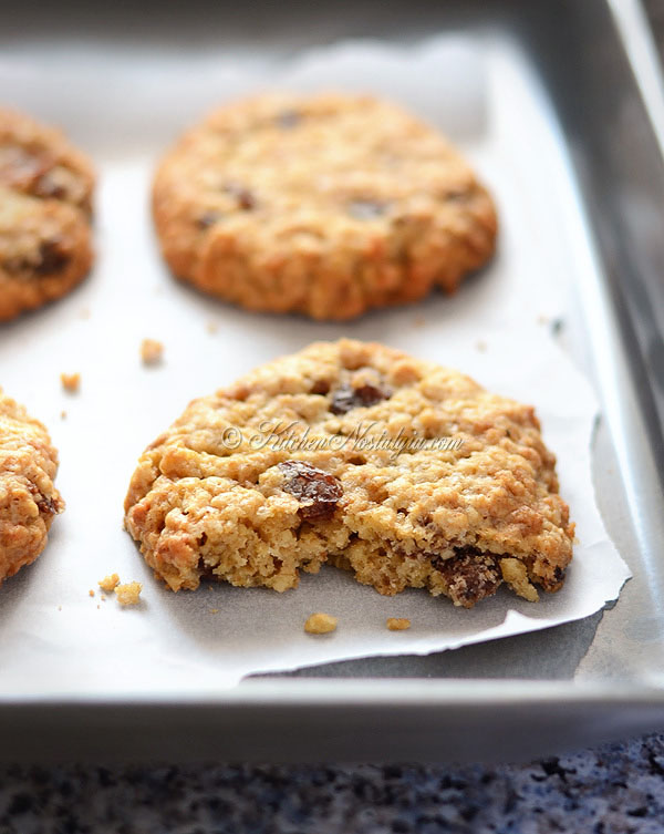 Thick Soft And Chewy Oatmeal Raisin Cookies Kitchen
